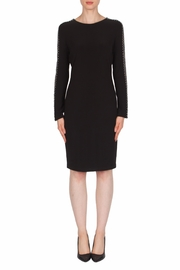 Joseph Ribkoff Mesh Sleeve Detail Dress - Product Mini Image