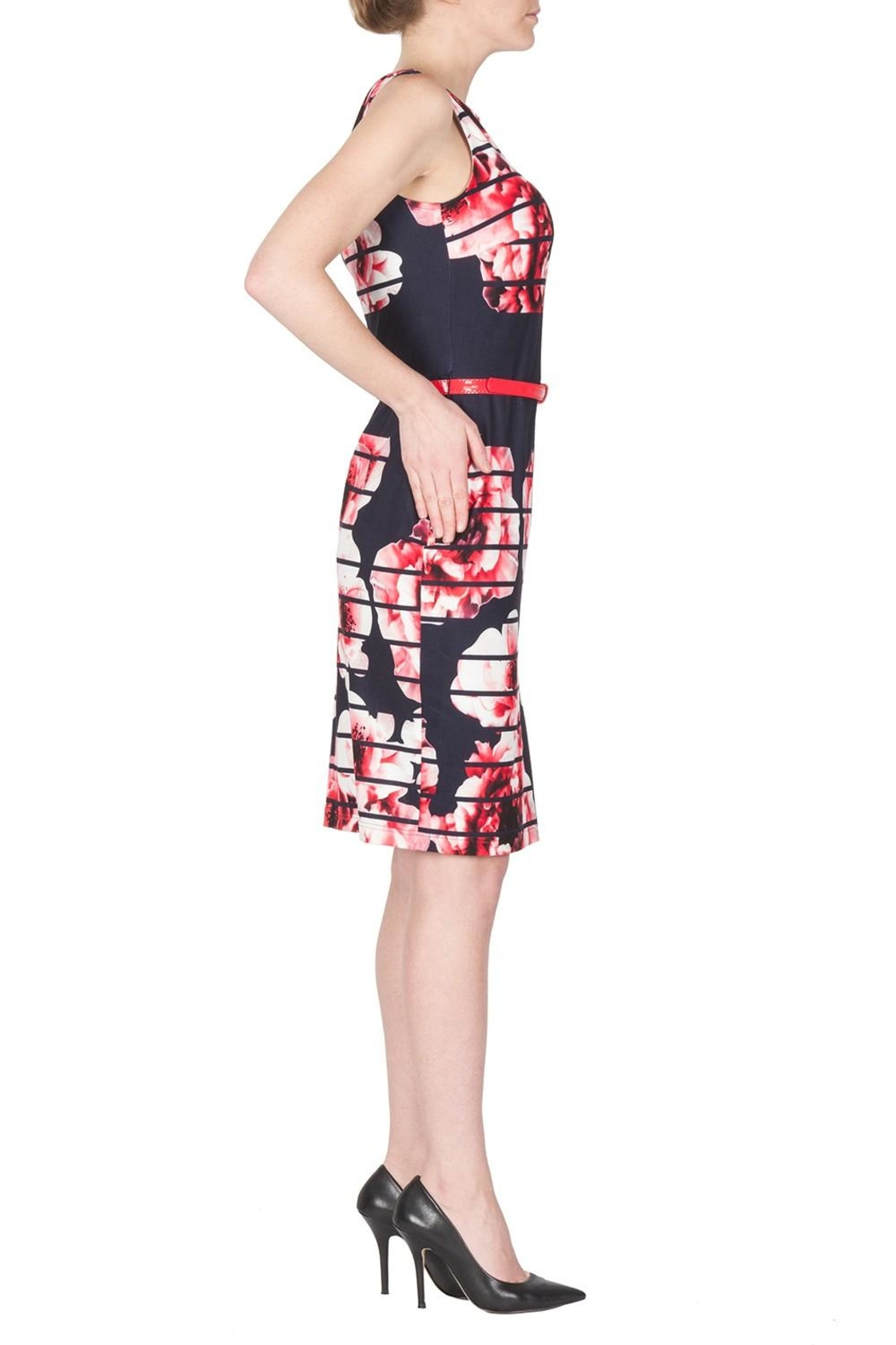Joseph Ribkoff Modern Floral Dress - Front Full Image