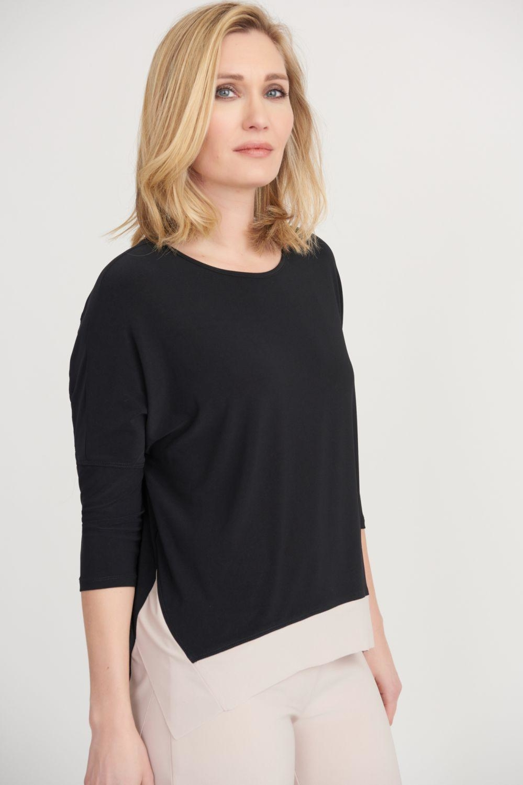Joseph Ribkoff Molly Two-Tone Top - Front Cropped Image