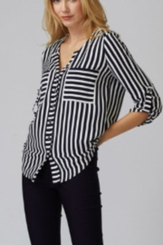 Joseph Ribkoff Nautical Button Blouse - Product Mini Image