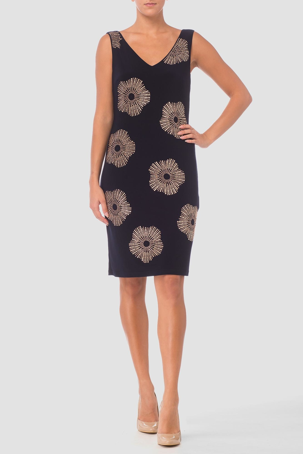 Joseph Ribkoff Navy Cocktail Dress - Front Cropped Image