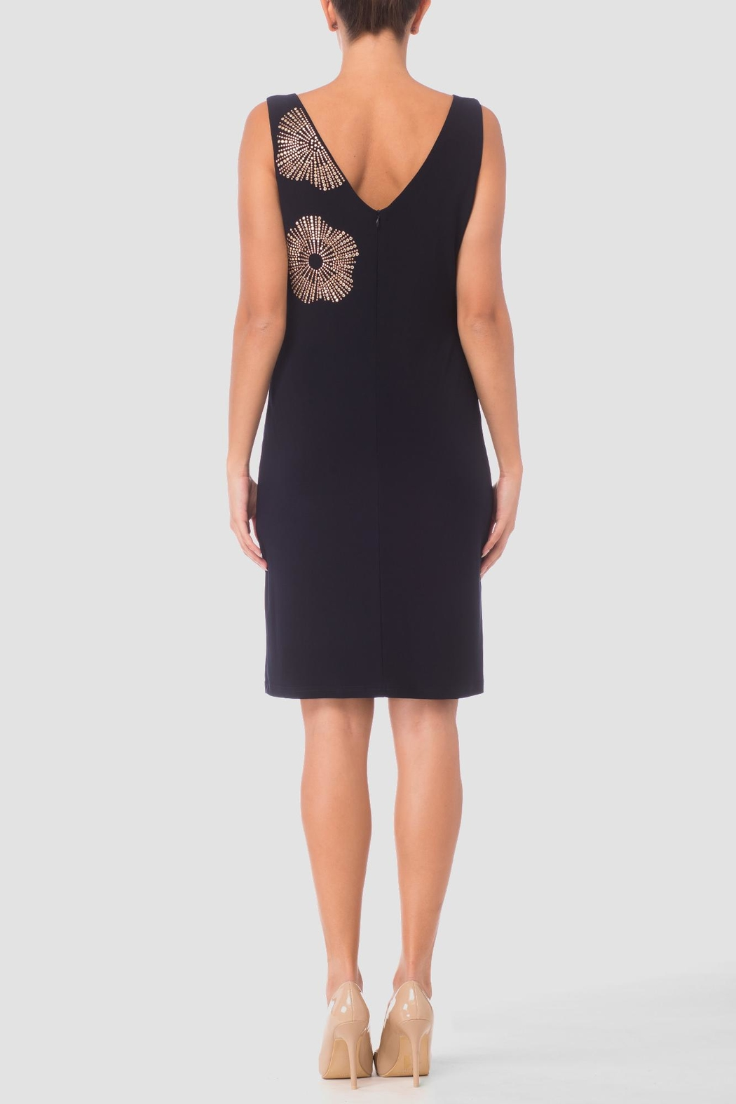 Joseph Ribkoff Navy Cocktail Dress - Front Full Image