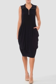 Joseph Ribkoff Navy Zip Dress - Product Mini Image