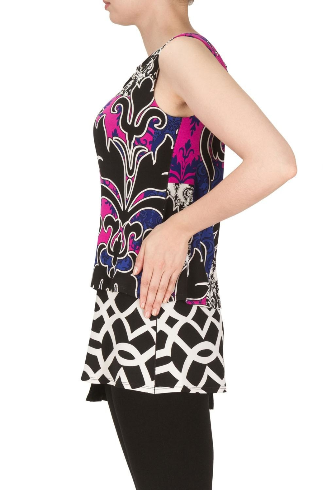 Joseph Ribkoff Nicole Patterned Top - Front Full Image