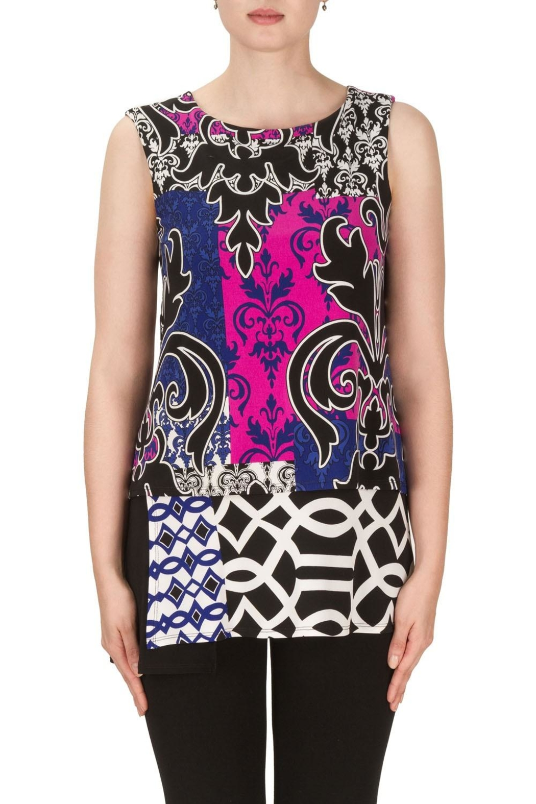 Joseph Ribkoff Nicole Patterned Top - Front Cropped Image