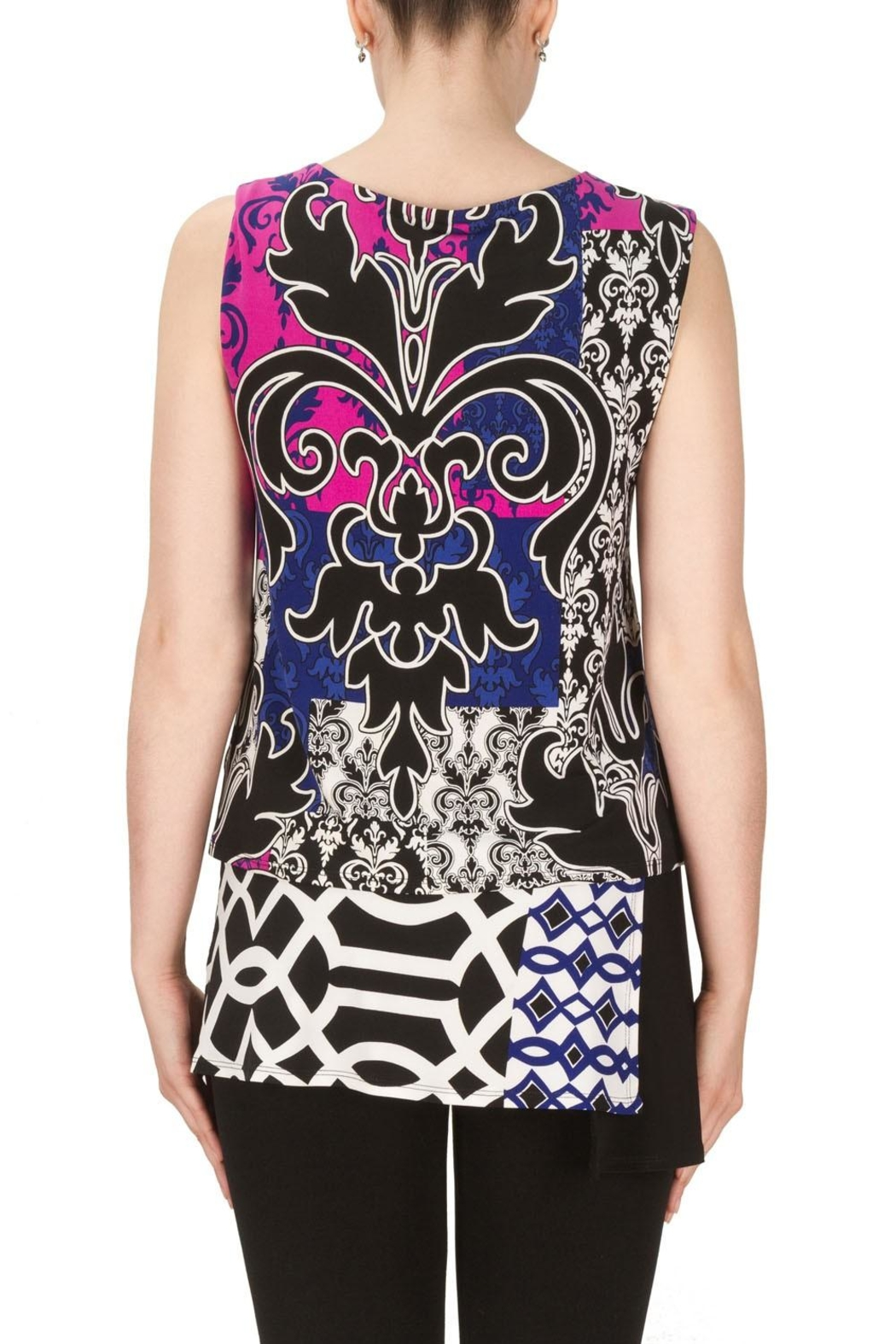 Joseph Ribkoff Nicole Patterned Top - Back Cropped Image