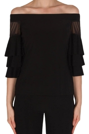 Joseph Ribkoff Off-Shoulder Black Top - Product Mini Image