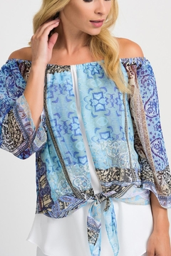 Shoptiques Product: Off The Shoulder Print Top