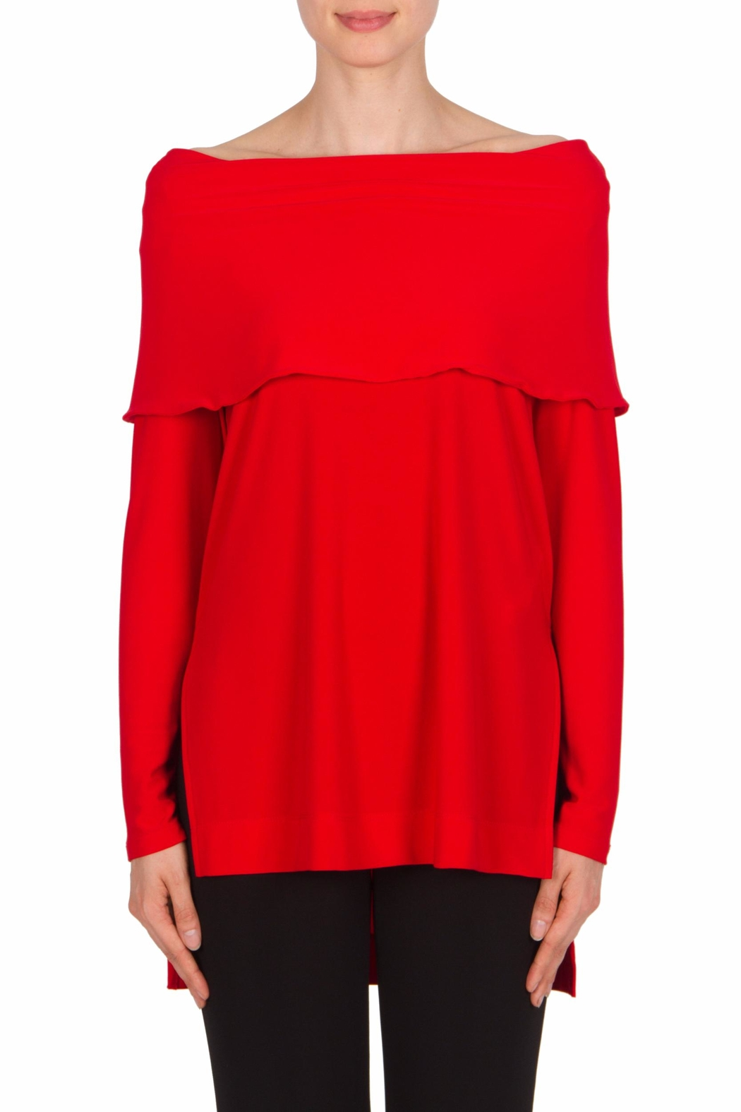 Joseph Ribkoff Off The Shoulder Top - Front Cropped Image
