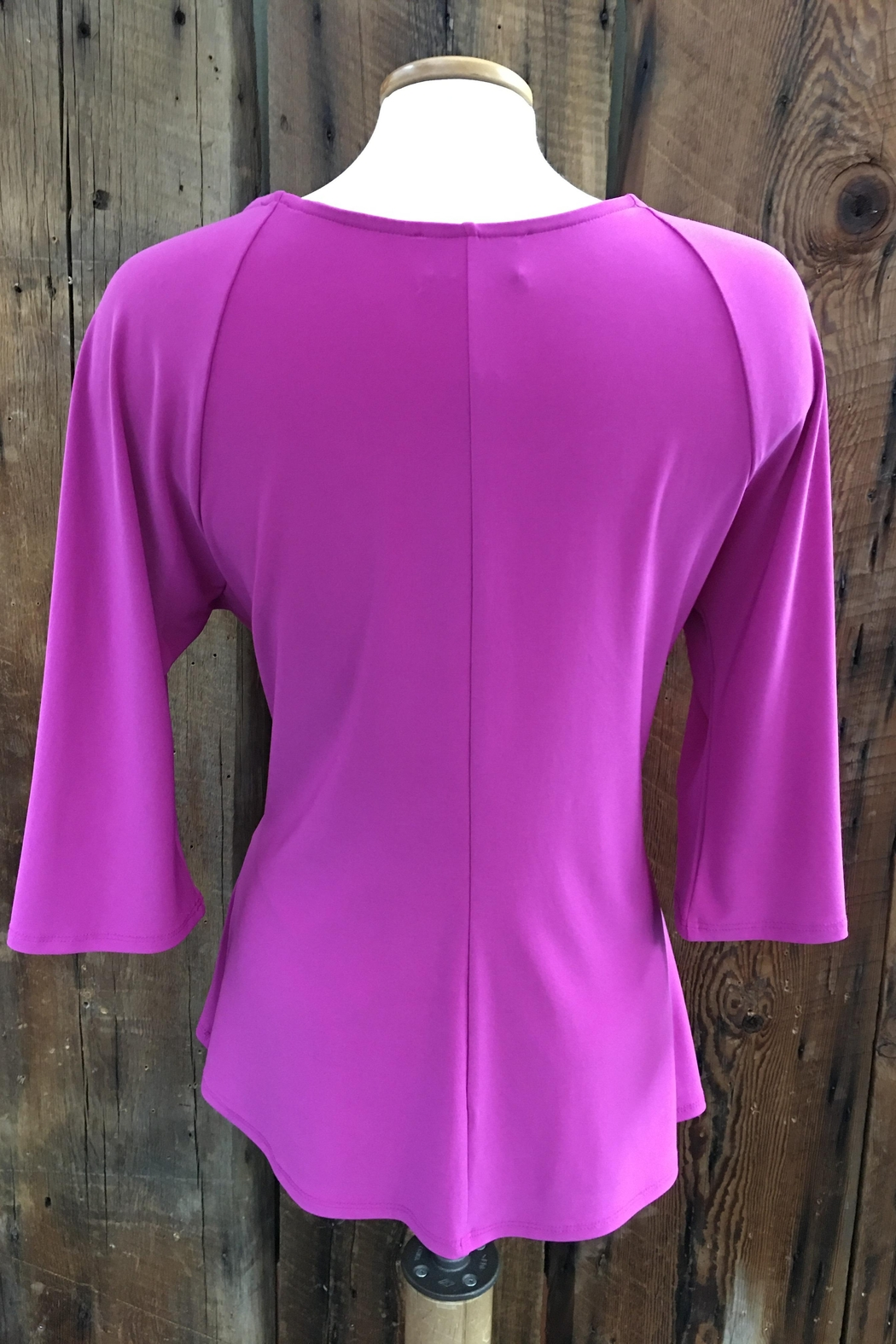 Joseph Ribkoff Orchid Bell-Sleeve Top - Front Full Image