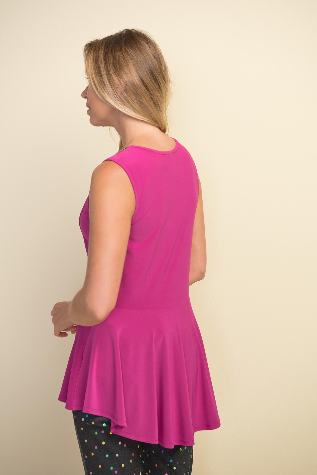 Joseph Ribkoff Orchid Sleeveless Top - Side Cropped Image