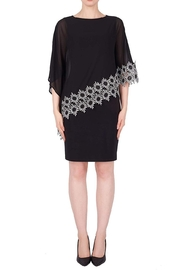 Joseph Ribkoff Black Scarf Dress - Front cropped
