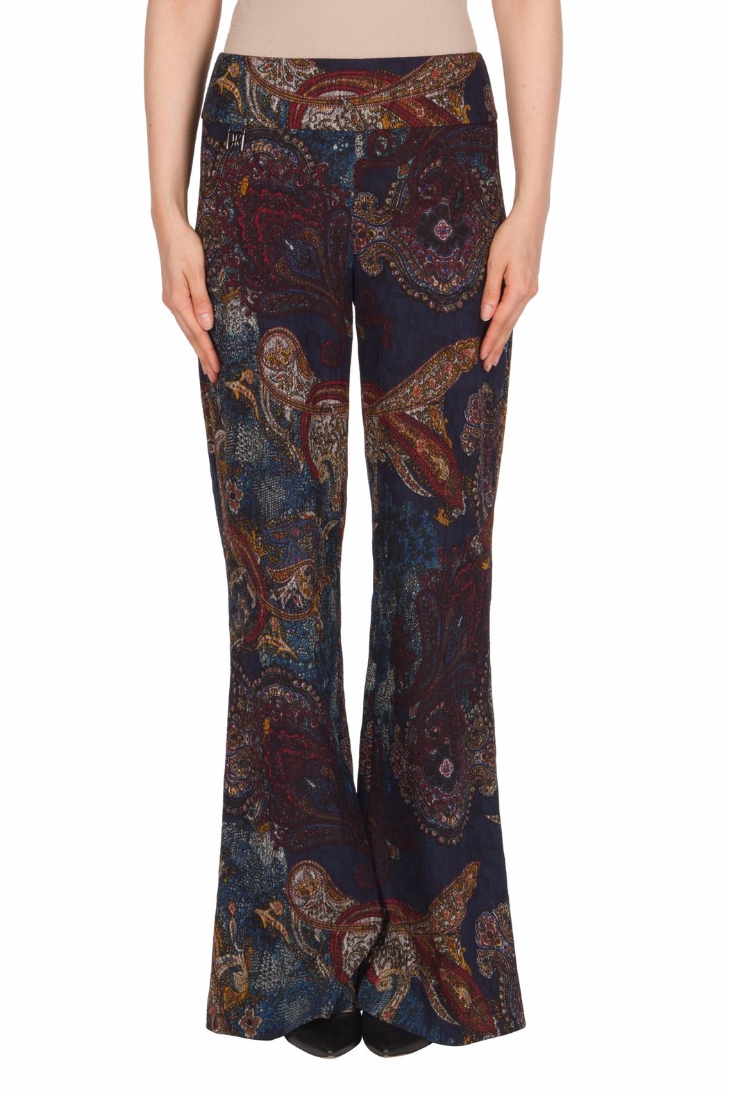 Joseph Ribkoff Paisley Taper Pant - Front Cropped Image