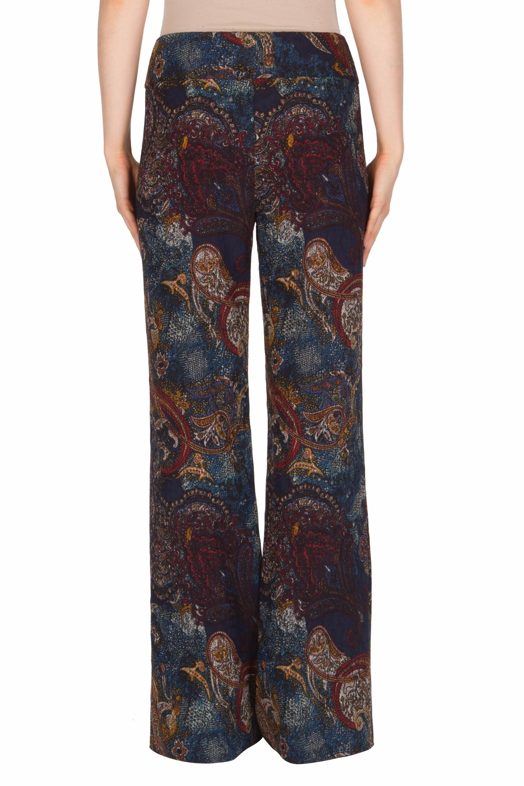 Joseph Ribkoff Paisley Taper Pant - Side Cropped Image