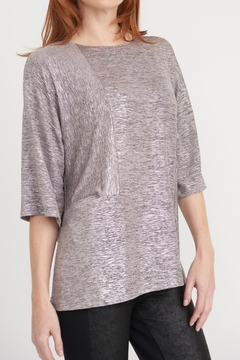 Joseph Ribkoff Pale Pink Shimmer Top - Product List Image