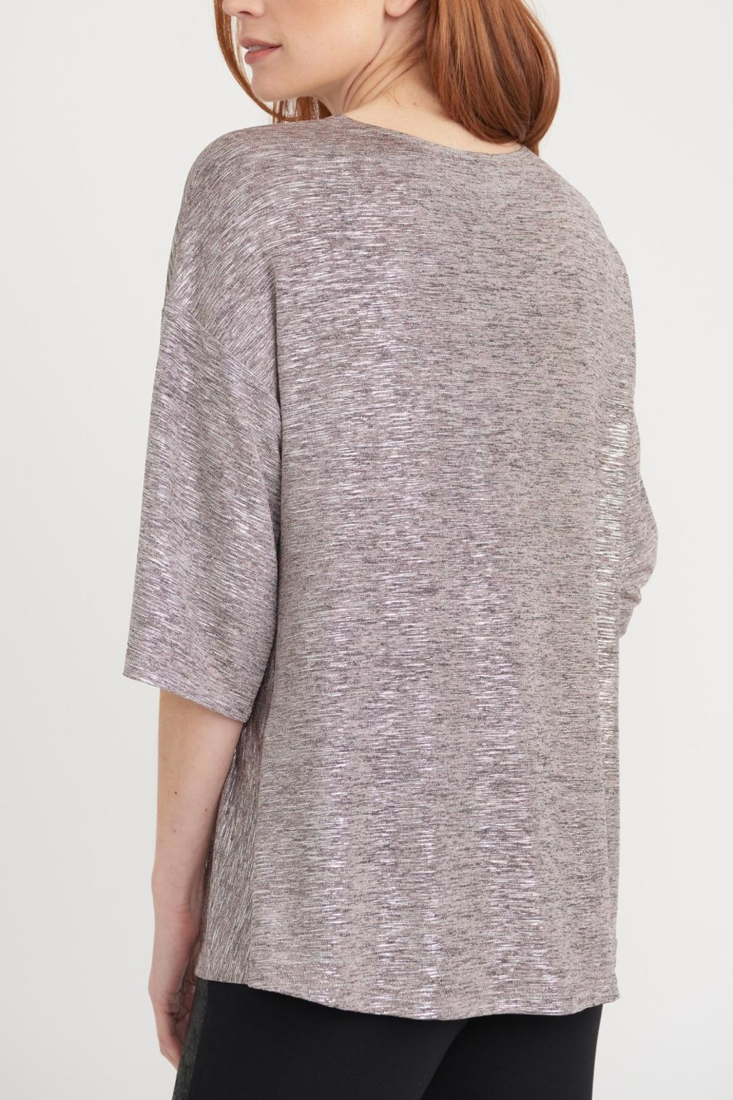 Joseph Ribkoff Pale Pink Shimmer Top - Front Full Image