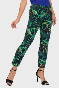 Joseph Ribkoff Palm Print Pant - Alternate List Image