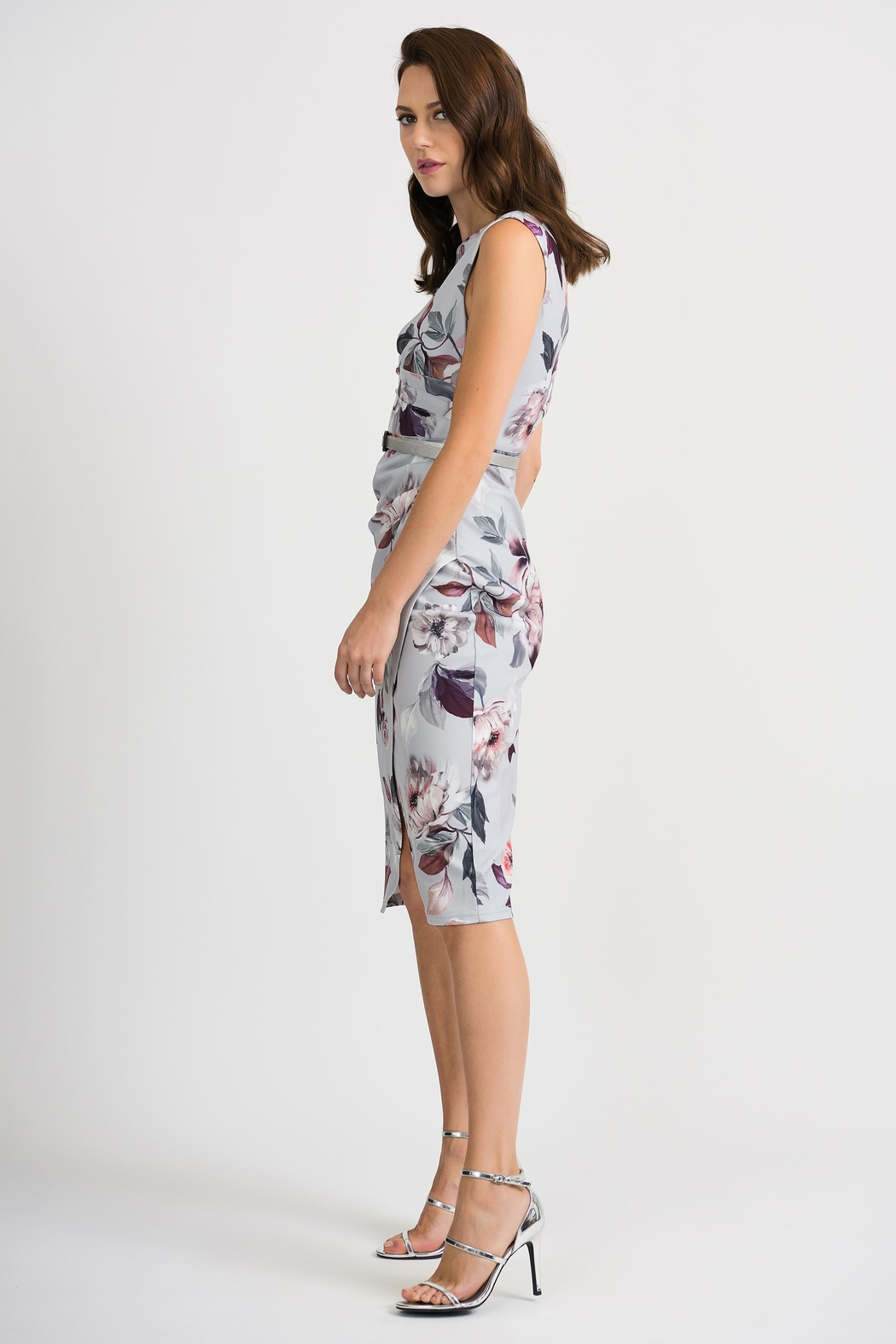 Joseph Ribkoff Peggy Floral-Belted Dress - Front Full Image