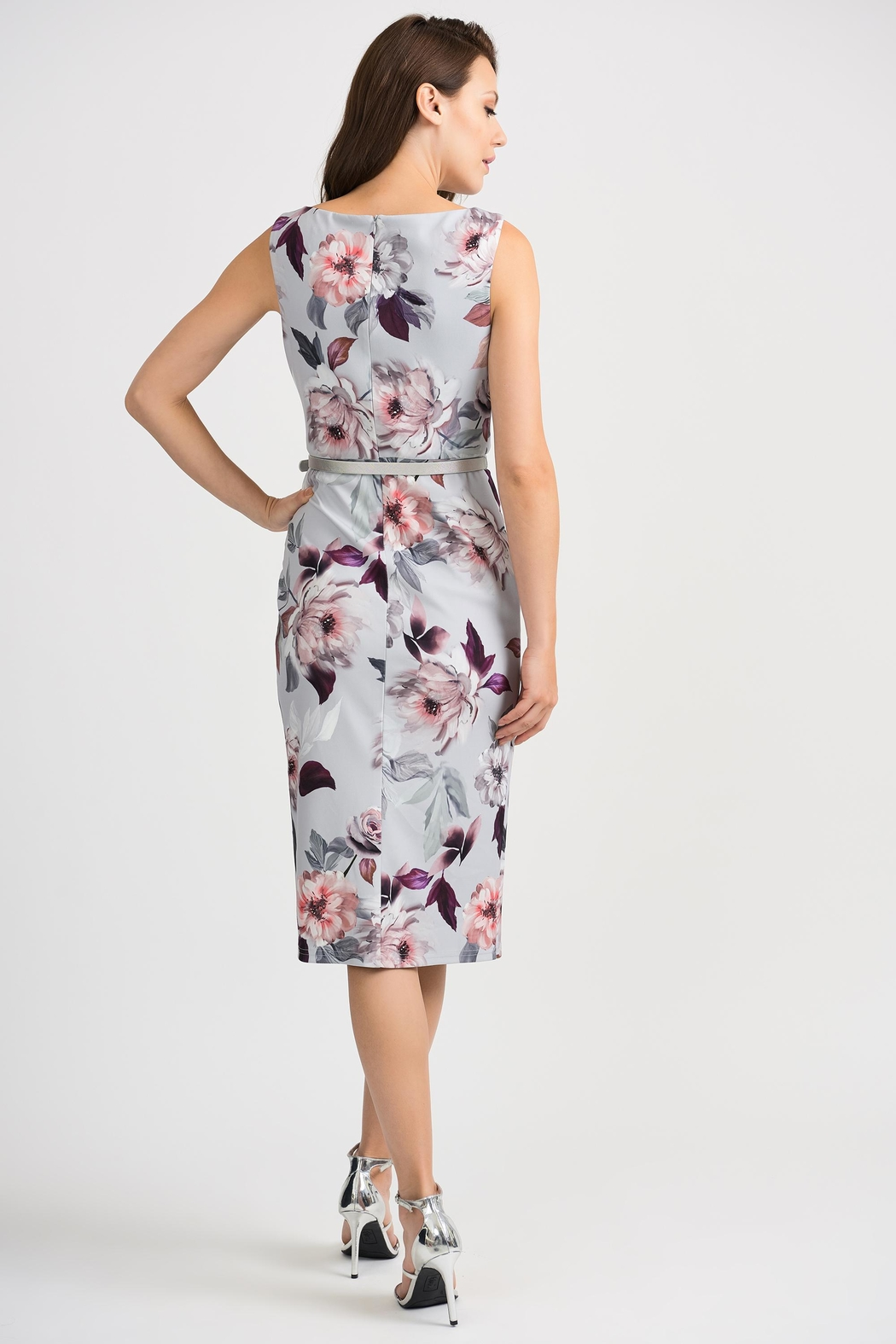 Joseph Ribkoff Peggy Floral-Belted Dress - Side Cropped Image