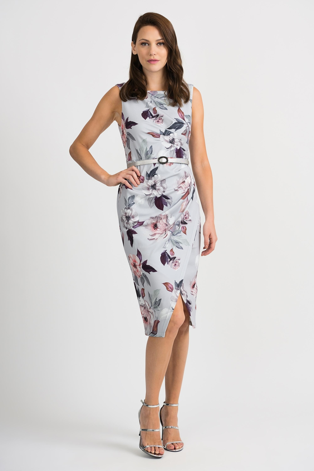 Joseph Ribkoff Peggy Floral-Belted Dress - Main Image