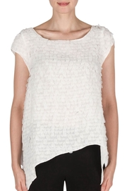 Joseph Ribkoff Petals Asymmetric Top - Product Mini Image