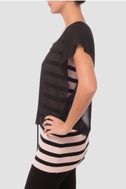 Joseph Ribkoff Pink/black Top - Front full body