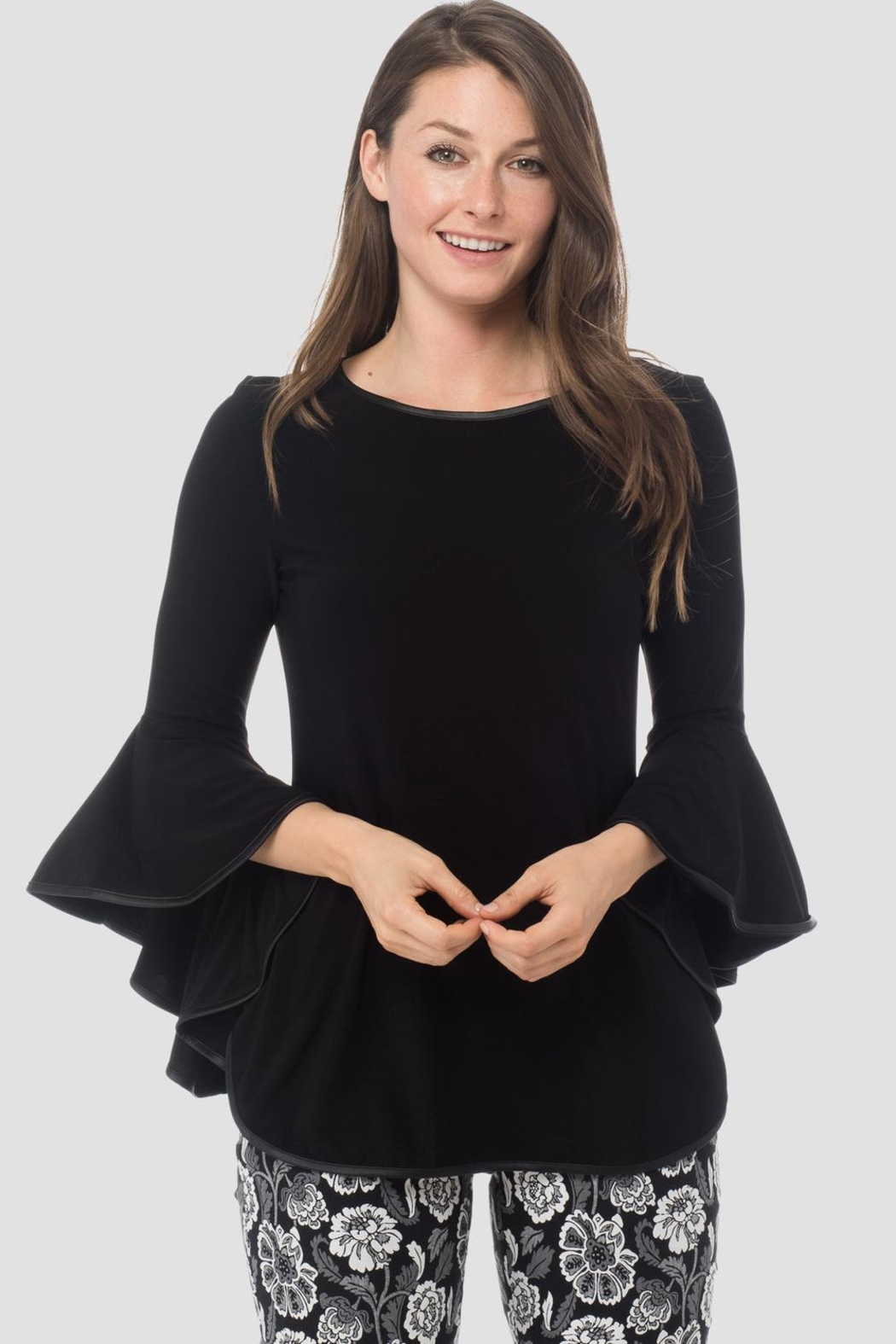 Joseph Ribkoff Poet Sleeves Top - Front Cropped Image