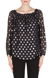 Joseph Ribkoff Polka Dot Top - Product Mini Image