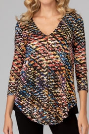 Joseph Ribkoff Print Sparkle Top - Product Mini Image