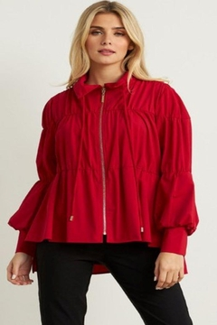 Joseph Ribkoff Puff Sleeve Jacket - Product List Image