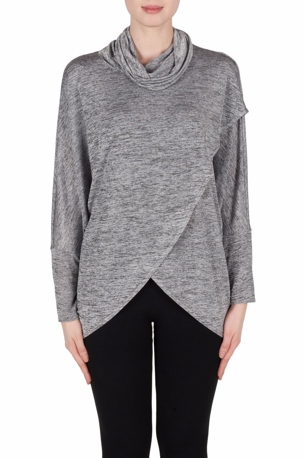 Joseph Ribkoff Raglan Cowl Tunic Top - Front Cropped Image