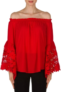 Shoptiques Product: Red Bell Sleeve