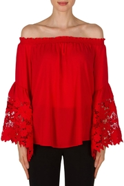 Joseph Ribkoff Red Bell Sleeve - Product Mini Image