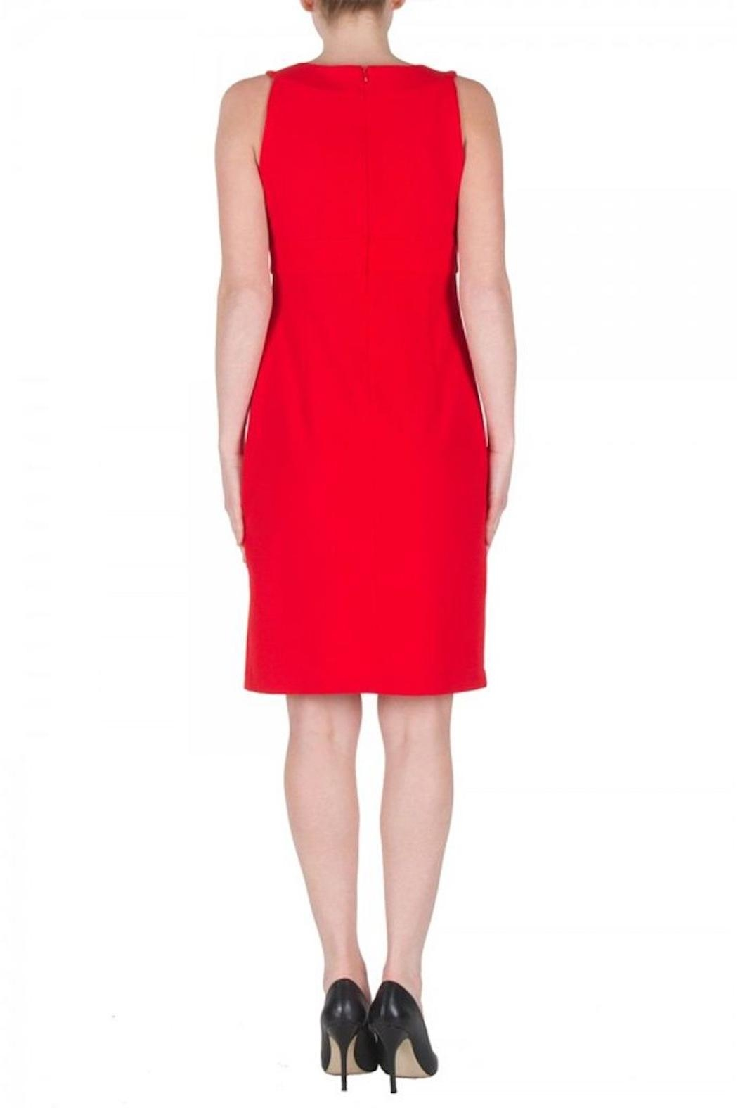 Joseph Ribkoff Red Cocktail Dress - Side Cropped Image
