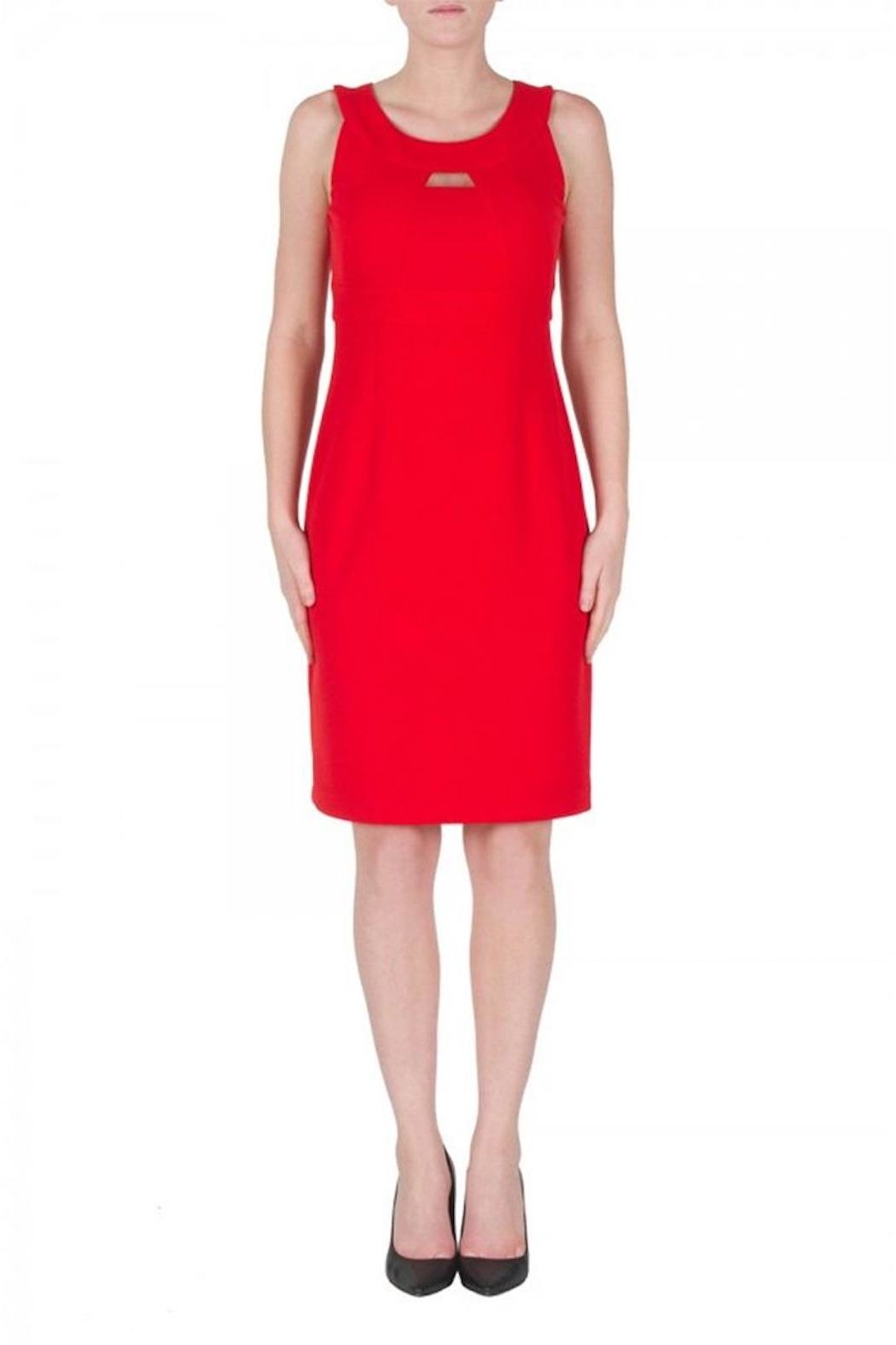 Joseph Ribkoff Red Cocktail Dress - Front Cropped Image
