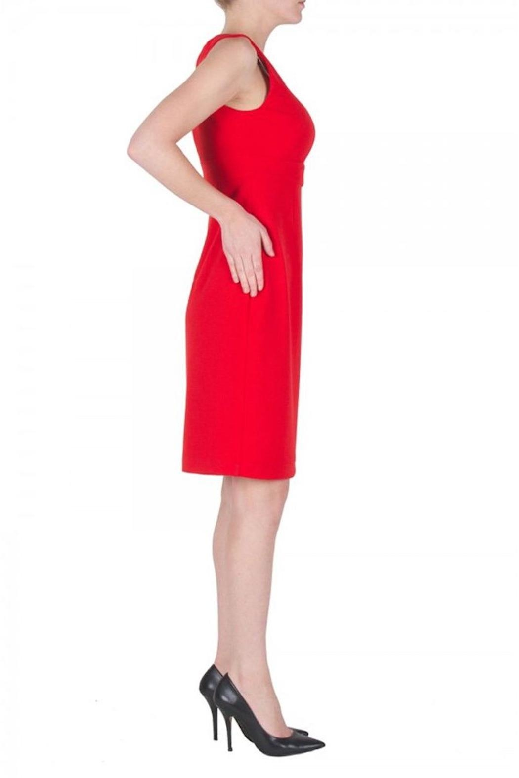 Joseph Ribkoff Red Cocktail Dress - Front Full Image