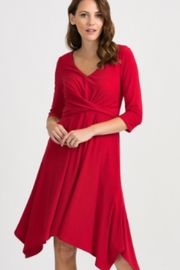 Joseph Ribkoff Red Crossover Dress - Product Mini Image