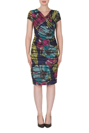 Joseph Ribkoff Faux Wrap Print Dress - Front cropped