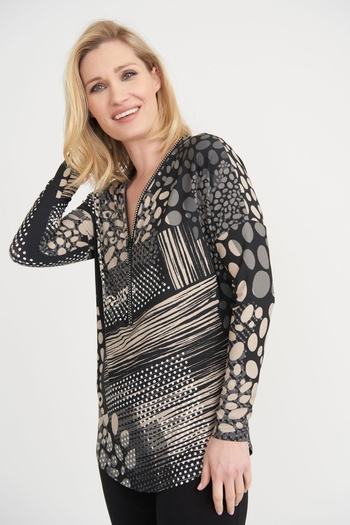 Joseph Ribkoff Rhinestone Zipper Top from Canada by Chez Therese Clothing and Gifts — Shoptiques