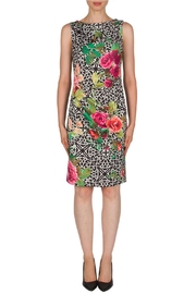 Joseph Ribkoff Rose & Lattice Dress - Product Mini Image