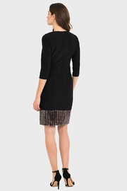 Joseph Ribkoff Rose Sequin Dress - Front full body