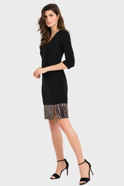 Joseph Ribkoff Rose Sequin Dress - Front cropped