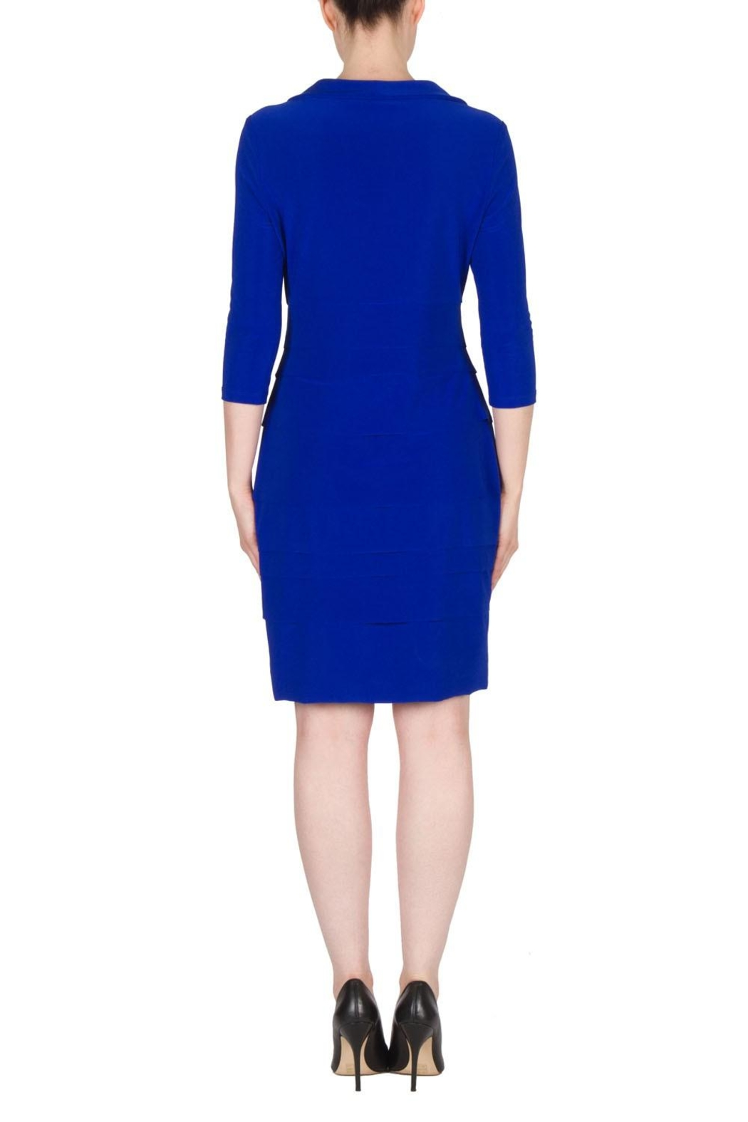 Joseph Ribkoff Royal Layered Dress - Side Cropped Image
