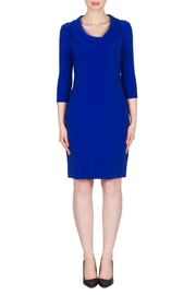 Joseph Ribkoff Royal Layered Dress - Front cropped