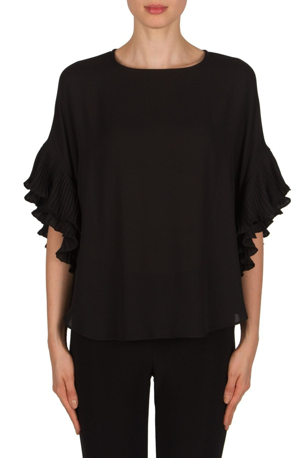 Joseph Ribkoff Ruffel Sleeve Top - Front Cropped Image