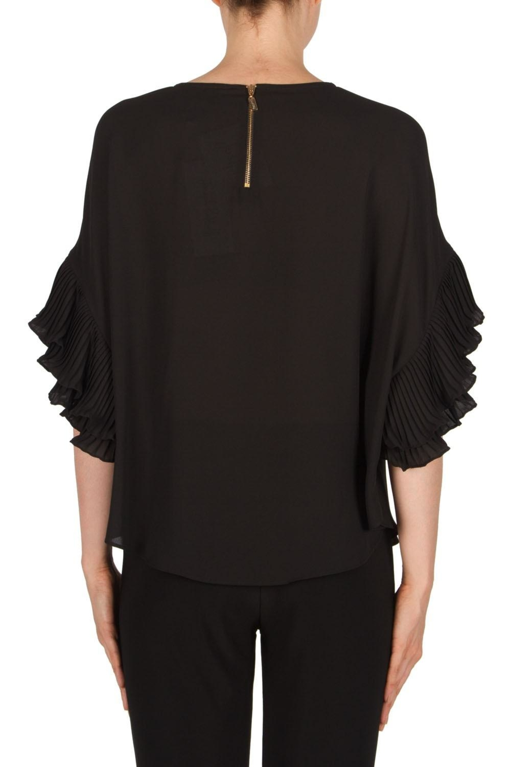 Joseph Ribkoff Ruffel Sleeve Top - Side Cropped Image