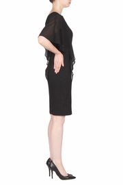 Joseph Ribkoff Ruffle Sleeve Dress - Front full body