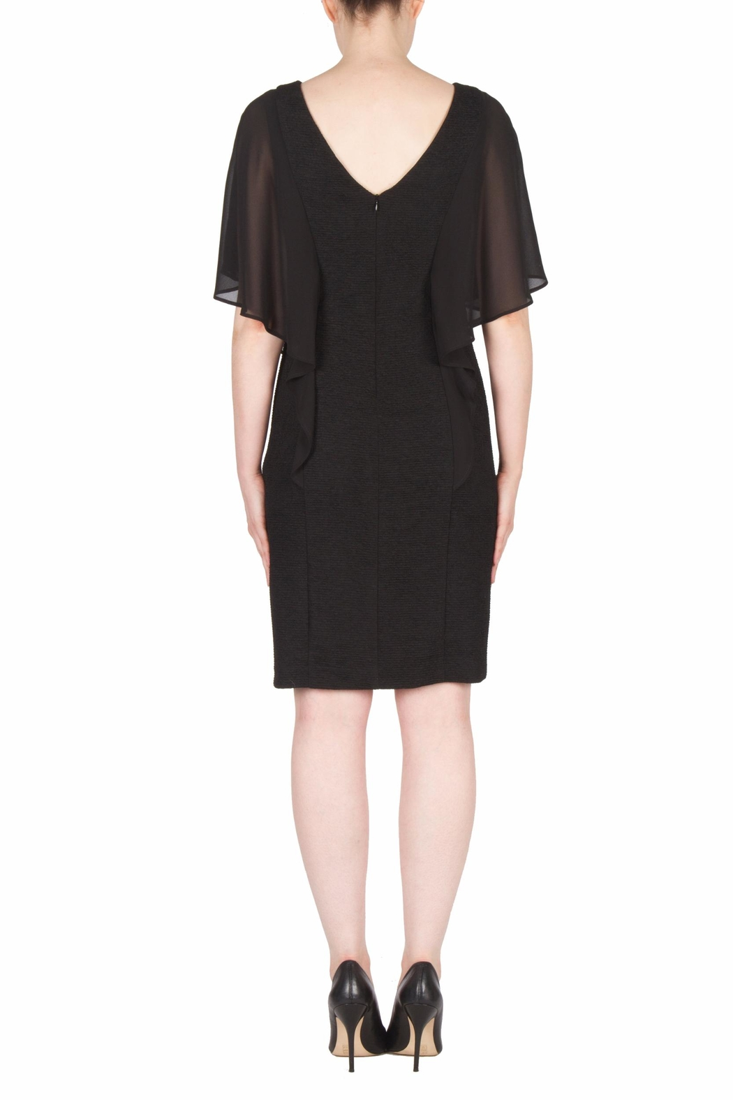 Joseph Ribkoff Ruffle Sleeve Dress - Side Cropped Image