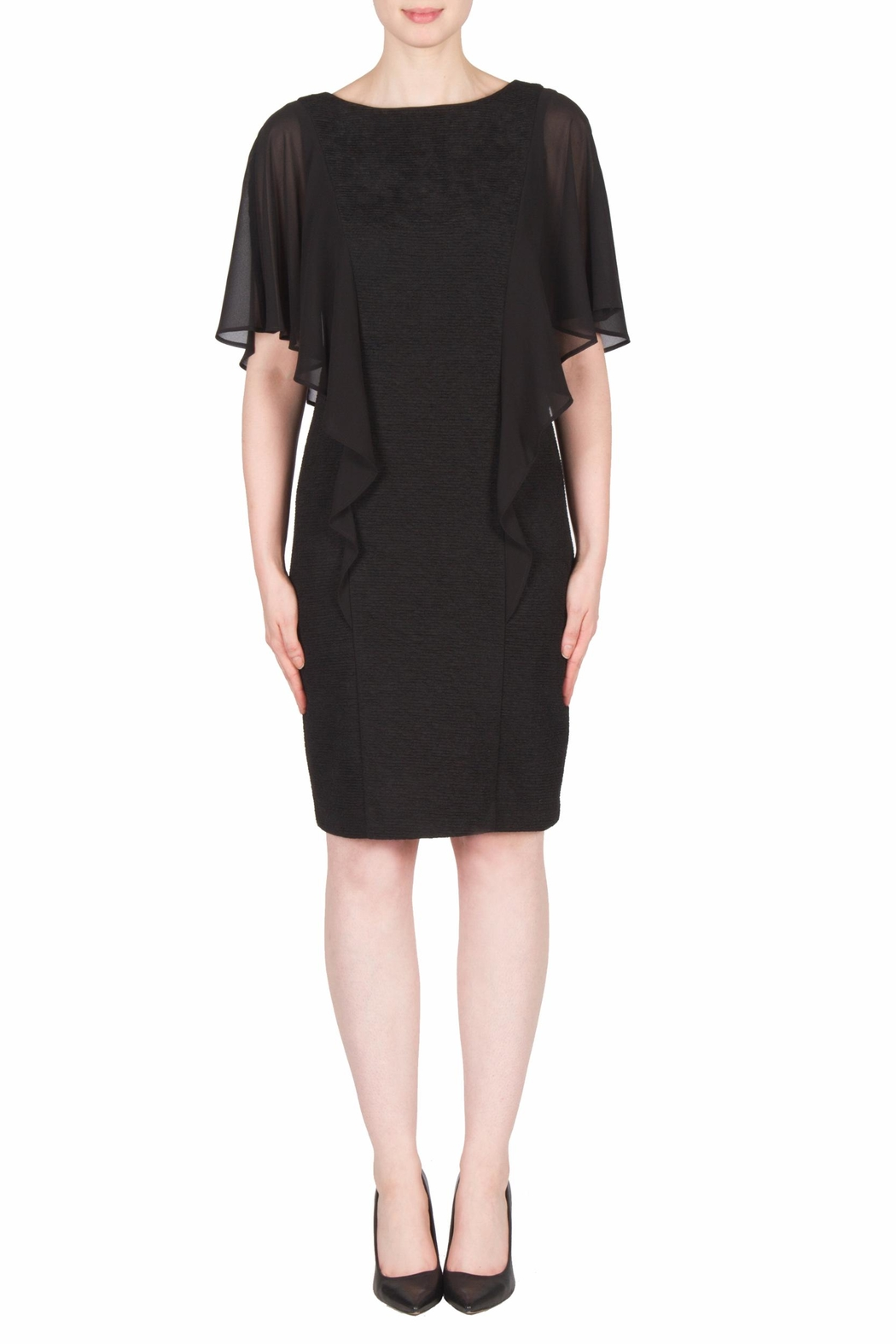 Joseph Ribkoff Ruffle Sleeve Dress - Front Cropped Image