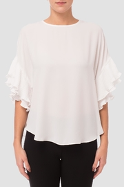 Joseph Ribkoff Ruffle Sleeve Blouse - Front cropped